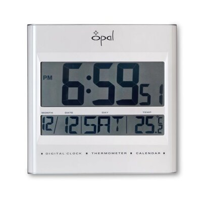 Opal Luxury Time Products Digital LCD Table Clock