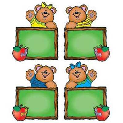 Frank Schaffer Publications/Carson Dellosa Publications Chalkboard Bears Cut-outs - Assorted