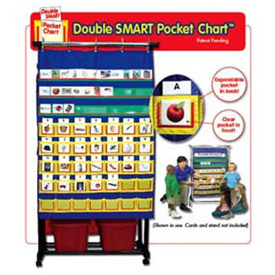 Frank Schaffer Publications/Carson Dellosa Publications Double Smart Pocket Chart 34 X 49
