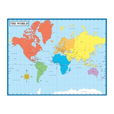 Frank Schaffer Publications/Carson Dellosa Publications Map Of The World Laminated Chartlet