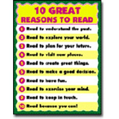 Frank Schaffer Publications/Carson Dellosa Publications Chartlet 10 Great Reasons To Read
