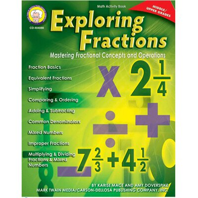 Frank Schaffer Publications/Carson Dellosa Publications Exploring Fractions Gr Middle