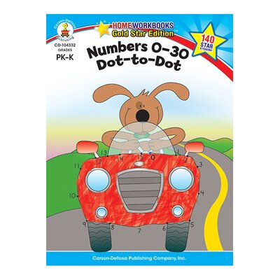 Frank Schaffer Publications/Carson Dellosa Publications Numbers 0-30 Dot To Dot Home