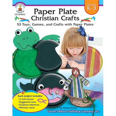 Frank Schaffer Publications/Carson Dellosa Publications Paper Plate Christian Crafts Gr K-3