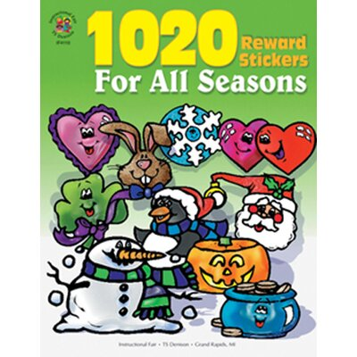 Frank Schaffer Publications/Carson Dellosa Publications Sticker Book For All Seasons 1020pk