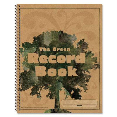 Frank Schaffer Publications/Carson Dellosa Publications Green Record Book, 96 Pages, 8-1/2x11""