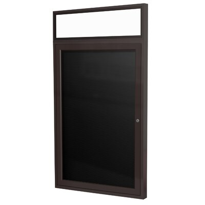 Ghent 1 Door Aluminum Frame Enclosed Vinyl Letterboard