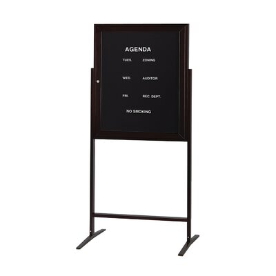 Ghent 1 Door Aluminum Frame Enclosed Flannel Letterboard