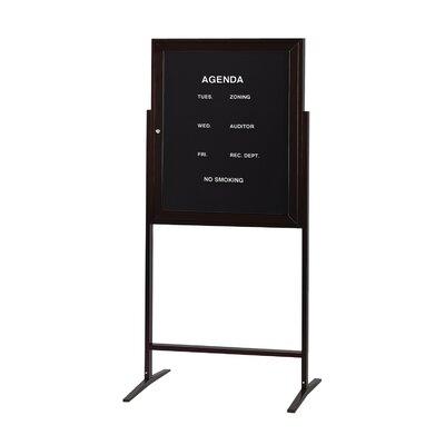 Ghent 1 Door Aluminum Frame Enclosed Flannel Letterboard
