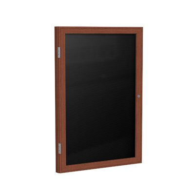 Ghent 1 Door Wood Frame Enclosed Flannel Letterboard