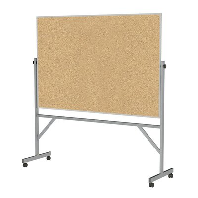 Ghent Aluminum Frame Reversible Natural Cork Board
