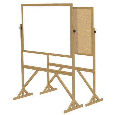 Ghent Wood Frame Reversible Acrylate Marker/Natural Cork Board