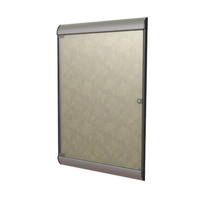 "Ghent 42-1/8"" H x 27-3/4"" W Silhouette Enclosed Tackboard"