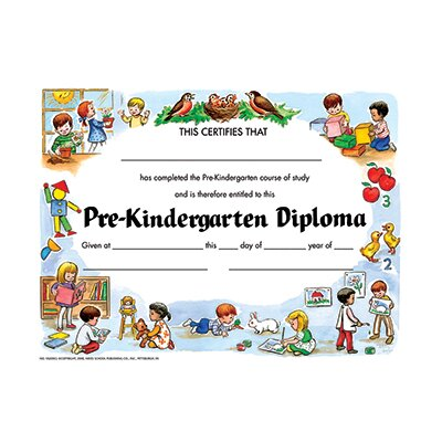 Hayes School Publishing Pre-kindergarten Diploma 30/pk