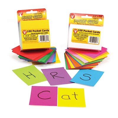 Hygloss Products Inc Rainbow Brights Pocket Cards 3x3