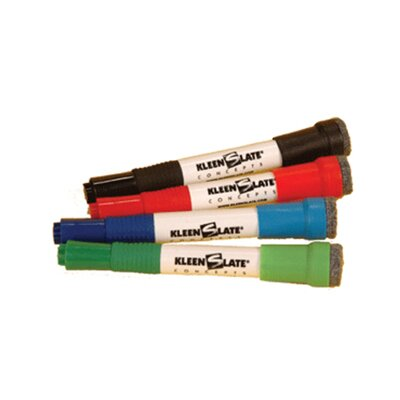 Kleenslate Concepts LLC Attachable Erasers For Dry 4-pk