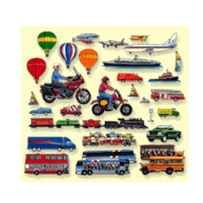 Little Folks Visuals Trains Trucks & Planes Flannelboard