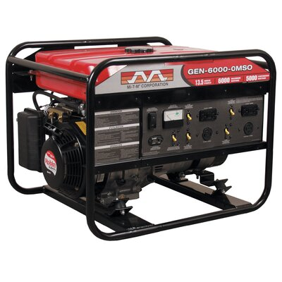 6,000 Watt 13.5 HP Subaru OHV Portable Gasoline Generator with Electric Start - GEN-6000-0MSE