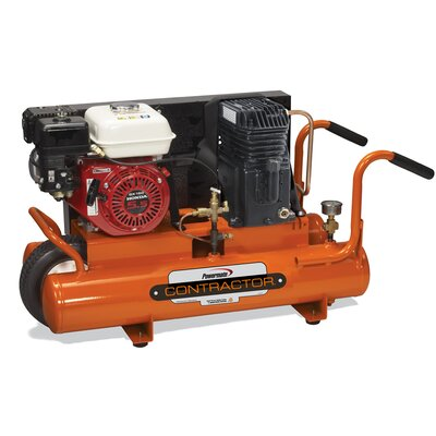 Powermate 8 Gallon Contractor Honda Powered Cast Iron Oil Lubricated Air Compressor