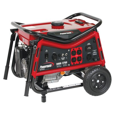 Powermate 3000 Watt Portable Gas Generator with Recoil Start