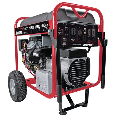 Powermate 12500 Watt Portable Gas Generator with Electric Start