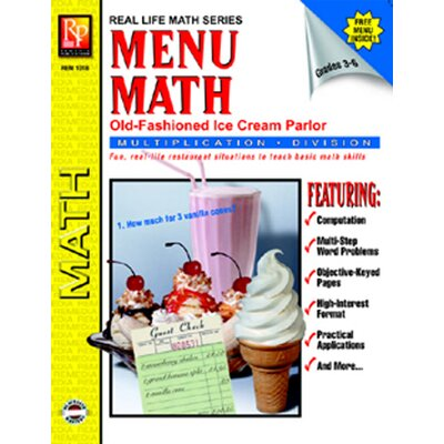 Remedia Publications Menu Math Ice Cream Parlor Book-2