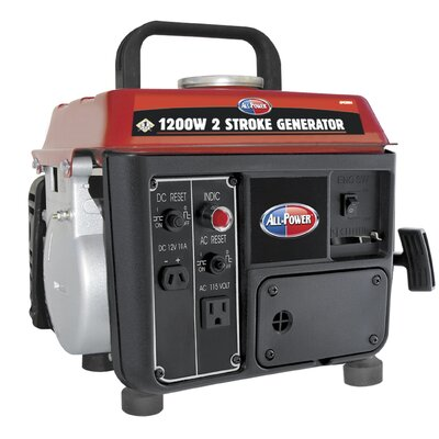 All Power America 1,200 Watt Portable Generator with 2 Stroke