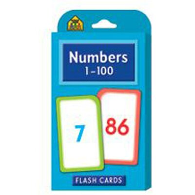 School Zone Publishing Numbers 1-100 Flash Cards