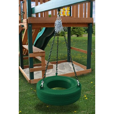 Gorilla Playsets Commercial Grade Tire Swing in Green
