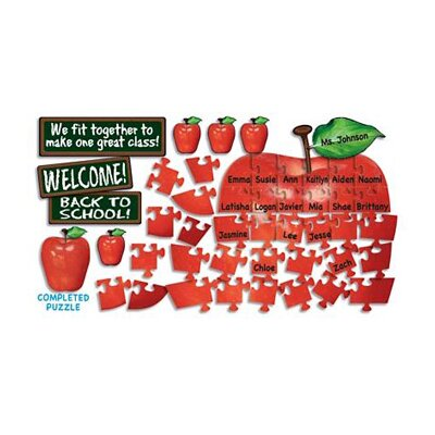 Teachers Friend Bb Set Welcome Apple Puzzle Guide