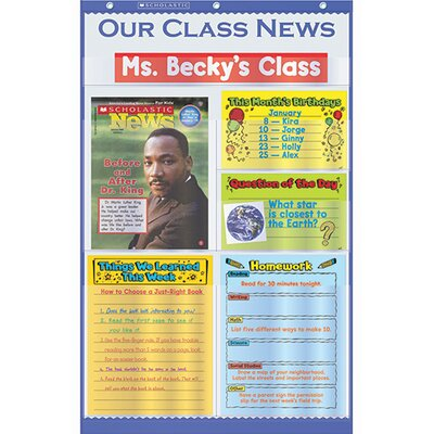 Teachers Friend Our Class News Pocket Chart Gr K-5