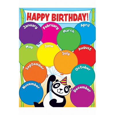 Teachers Friend Panda Birthday Chart Gr Pk-5