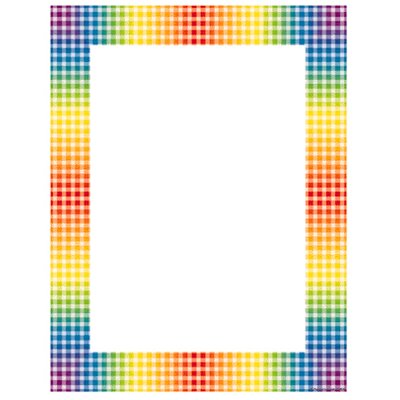 Teachers Friend Design Paper Rainbow Gingham 50 Sht