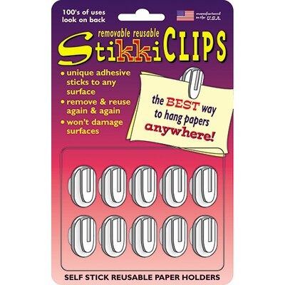 The StikkiWorks Co Stikki Clips White 20 Per Pack