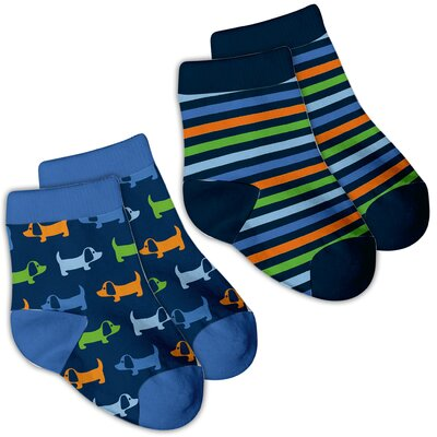 i play. Organic Print Socks (2-Piece)