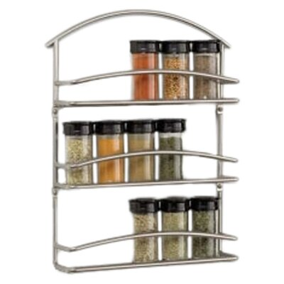 Spectrum Diversified Euro Wall-Mounted Spice Rack in Black