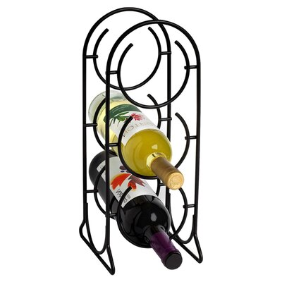 <strong>Spectrum Diversified</strong> Horseshoe 3 Bottle Tabletop Wine Rack