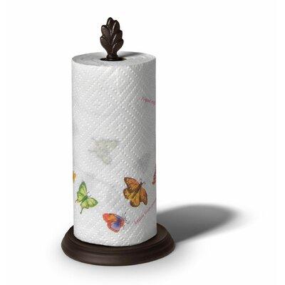 Leaf Paper Towel Holder in Bronze