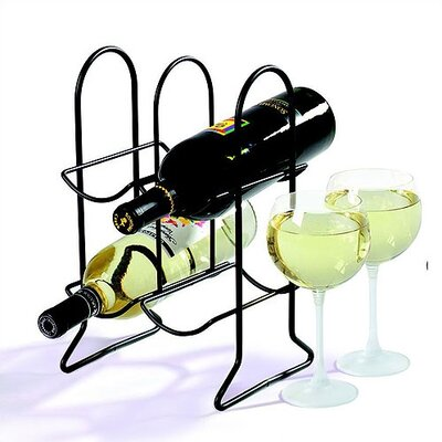 Spectrum Diversified Townhouse 4 Bottle Tabletop Wine Rack