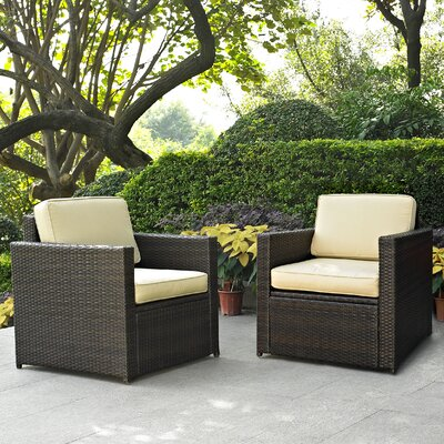 Crosley Palm Harbor 2 Piece Deep Seating Group with Cushions