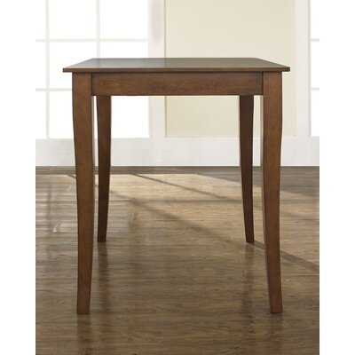 Crosley Cabriole Leg Pub Table in Classic Cherry