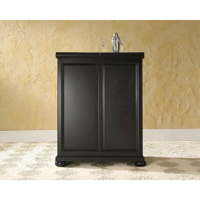 Crosley Alexandria Expandable Bar Cabinet in Black