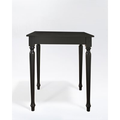 Crosley Turned Leg Pub Table in Black