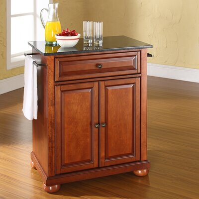 Crosley Alexandria Kitchen Island with Granite Top