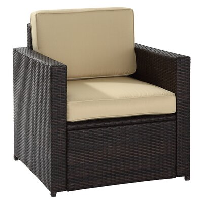 Crosley Palm Harbor Outdoor Wicker Deep Seating Chair With Cushion Revi