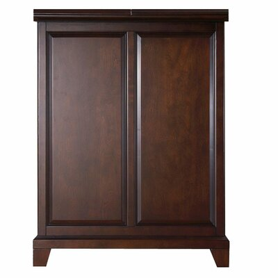 Crosley Newport Expandable Bar Cabinet in Vintage Mahogany