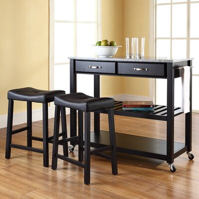 Kitchen Cart Set with Granite Top