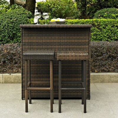Palm Harbor 3 Piece Bar Set