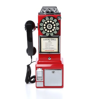 Crosley 1950 S Classic Red Pay Phone Amp Reviews Wayfair