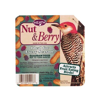 Heath Mfg Co Premium Cake Berry / Nut Wild Bird Suet Cake
